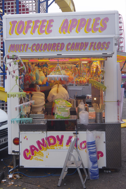 Toffee apples and candy floss - Goose Fair