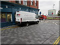ST3188 : White van in Market Street, Newport by Jaggery