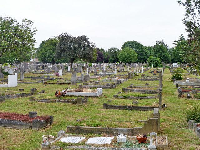 In Croydon Cemetery