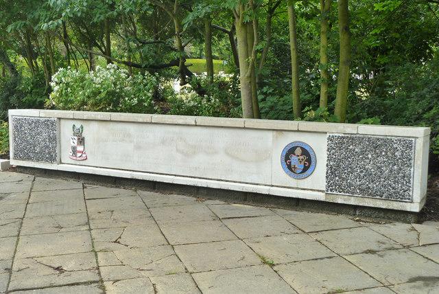 Part of Lanfranc School memorial, Croydon Cemetery
