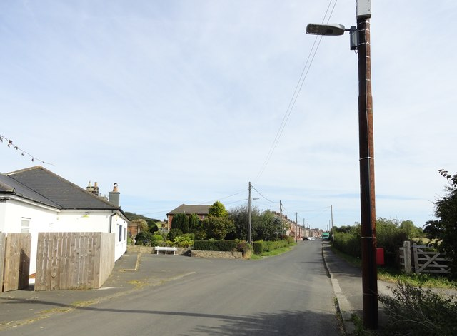 View down Twizell Lane from Eden Hill