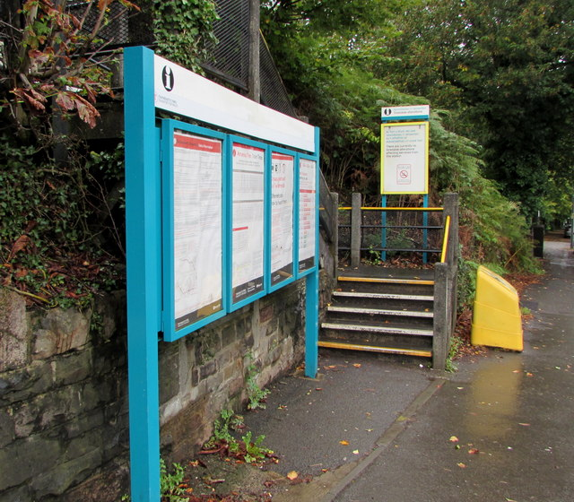 Information boards, Health Halt Road, Cardiff