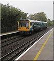ST1880 : Ystrad Mynach train leaving Heath High Level station, Cardiff by Jaggery