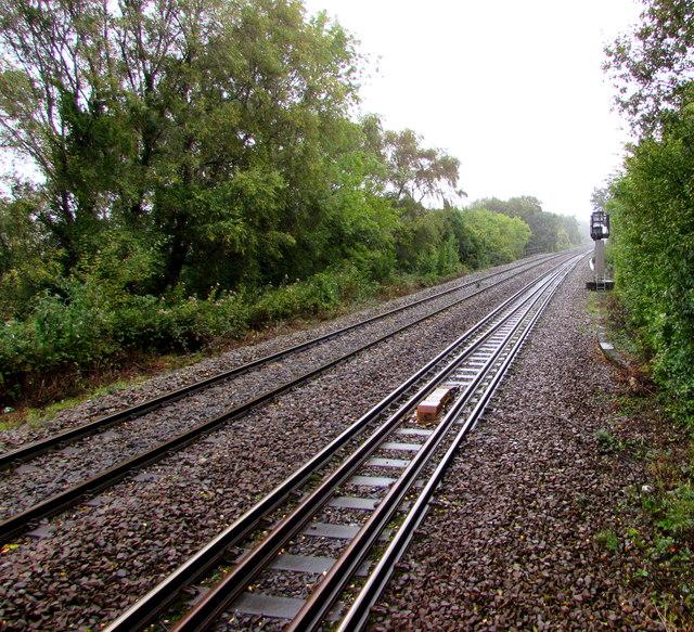 Rhymney Line north of Heath High Level station, Cardiff