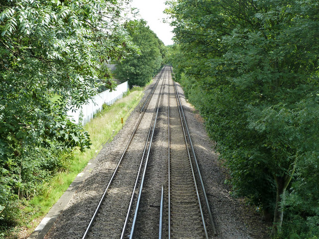 Railway east of Plough Lane, Beddington