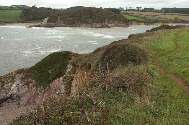 Coast path at Muxham Point