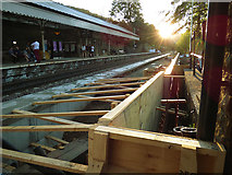 SD9926 : Platform extension at Hebden Bridge railway station by Stephen Craven