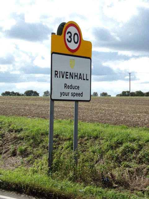 Rivenhall Village Name sign