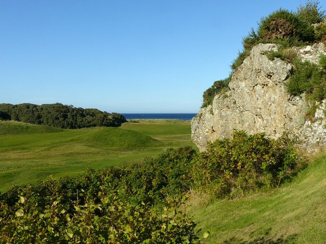 Outcrop by the golf course, Lossiemouth