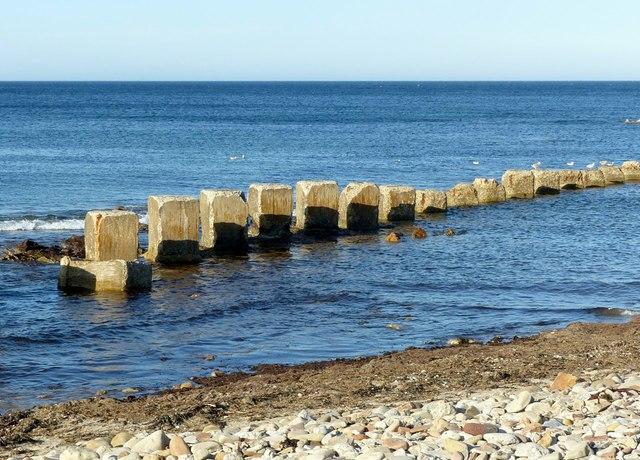 Anti-tank blocks, West Beach, Lossiemouth