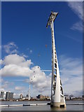 TQ3979 : Mast carrying Emirates Air Line cableway by Tim Heaton