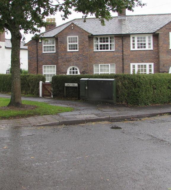 Dark green cabinet on a Rhiwbina corner, Cardiff