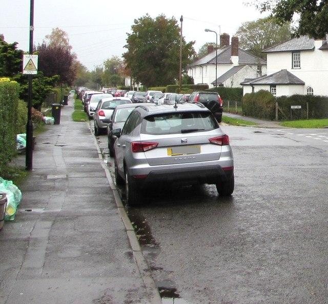 On-street parking, Pen-y-dre, Rhiwbina, Cardiff