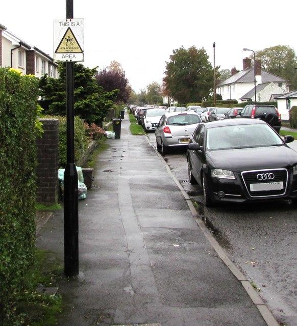 Neighbourhood Watch Area sign, Pen-y-dre, Rhiwbina, Cardiff