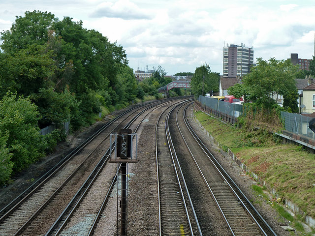 Railway towards Clapham Junction and Victoria