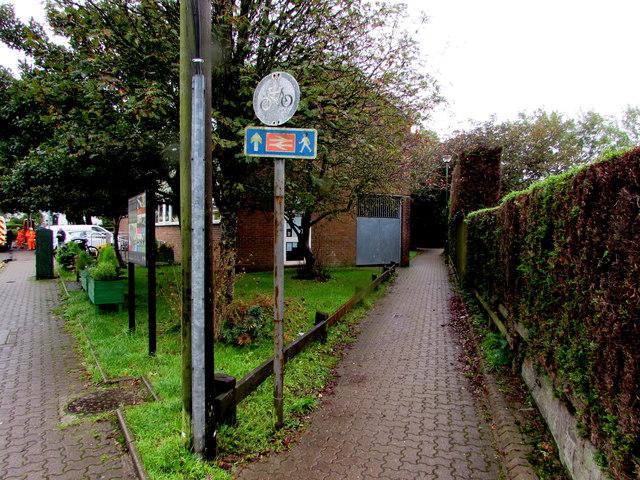 Path to Rhiwbina railway station, Cardiff