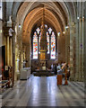 SO8454 : Jacobean Font and Font Cover in Worcester Cathedral by David Dixon