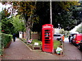 ST1580 : Grade II listed red phonebox, Pen-y-dre, Rhiwbina, Cardiff by Jaggery