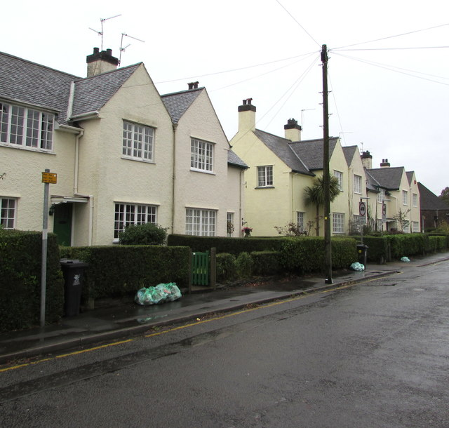 Grade II listed row of houses, Pen-y-dre, Rhiwbina, Cardiff