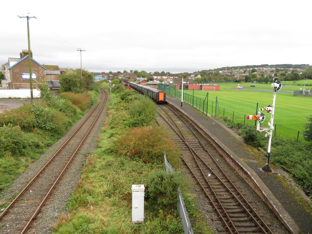 Railway lines at Whitehead