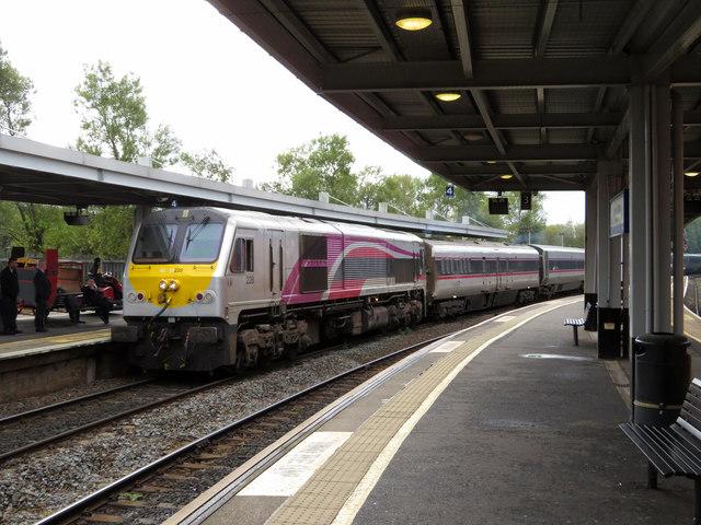Enterprise train at Belfast Lanyon Place