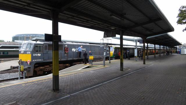 Railtour at Dublin Heuston