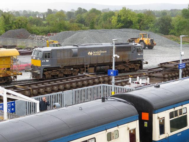 071 diesel locomotive at Limerick Junction