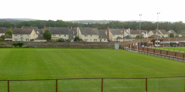 Playing fields and houses, Hallhill, Dunbar