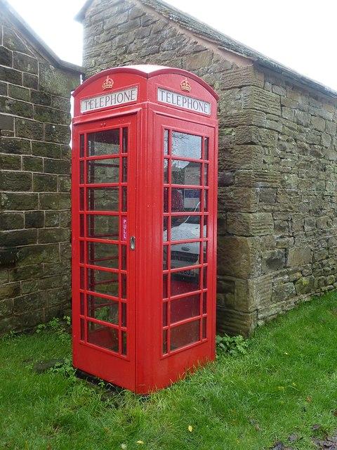 Empty telephone kiosk