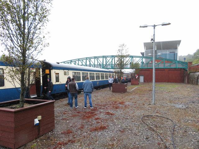 The Cork end of Cobh station platform