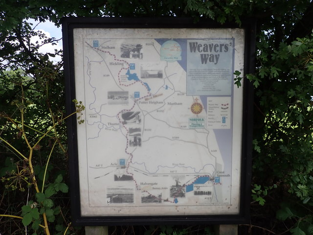 Weavers' Way Information Board