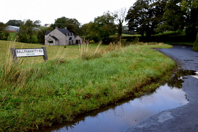 Water lying along Ballynahatty Road