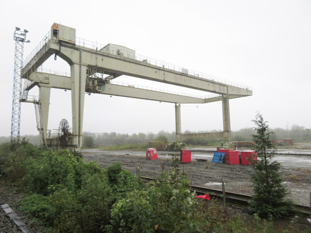 Container crane on the outskirts of Cork