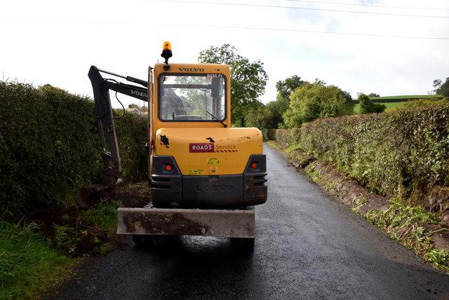 Digger along Ballynahatty Road