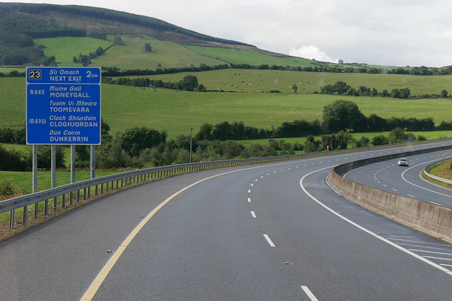 Westbound M7 towards Junction 23 (Moneygall)
