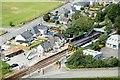 SH5831 : Harlech Railway Station from Harlech Castle by Jeff Buck