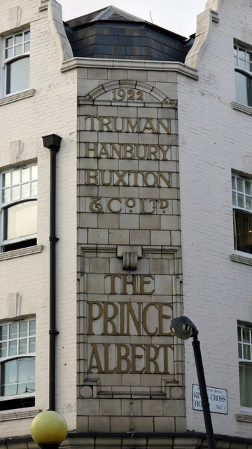 Sign on The (former) Prince Albert, King's Cross Road / Acton Street, WC1