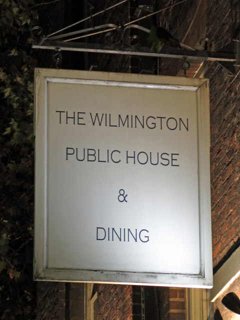 Sign for The Wilmington, Rosebery Avenue / Yardley Street, EC1