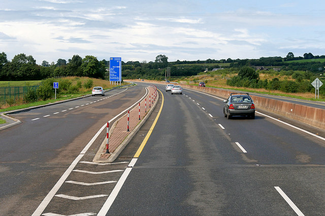 Layby on the Westbound M7 near Nore Bridge