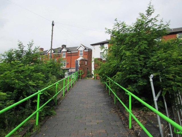 Walkway from Kidderminster Railway Station to Comberton Hill, Kidderminster, Worcs