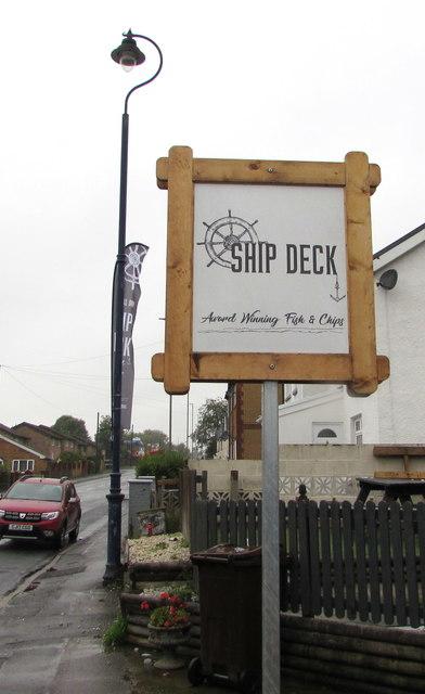 Ship Deck name sign, Trethomas