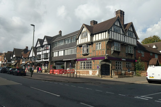 Shops and bank, Station Road East, Oxted