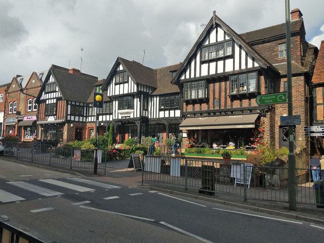 Shops and restaurants, Station Road East, Oxted