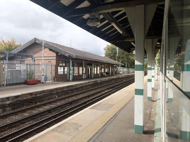 Oxted station, up platform building