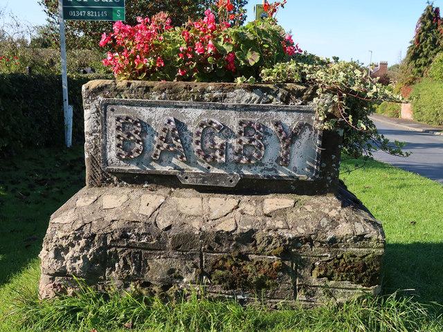 Bagby village sign, Bagby Lane