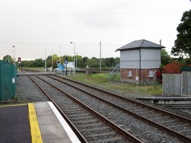 Banteer station: level crossing and former signal box