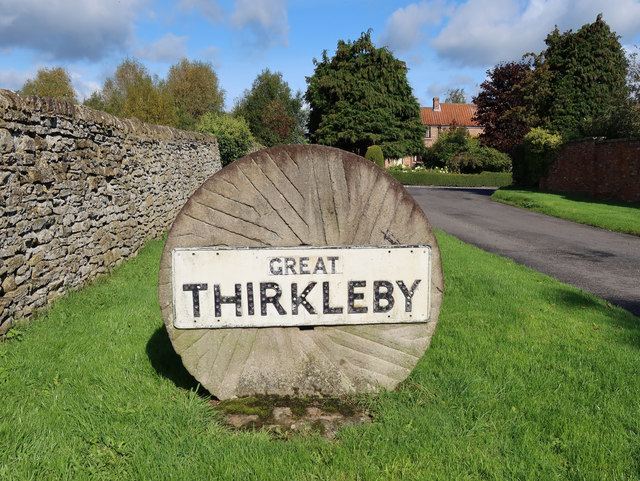 Great Thirkleby village sign, Long Causeway