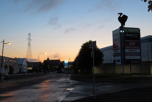 Old Naas Road at sunrise