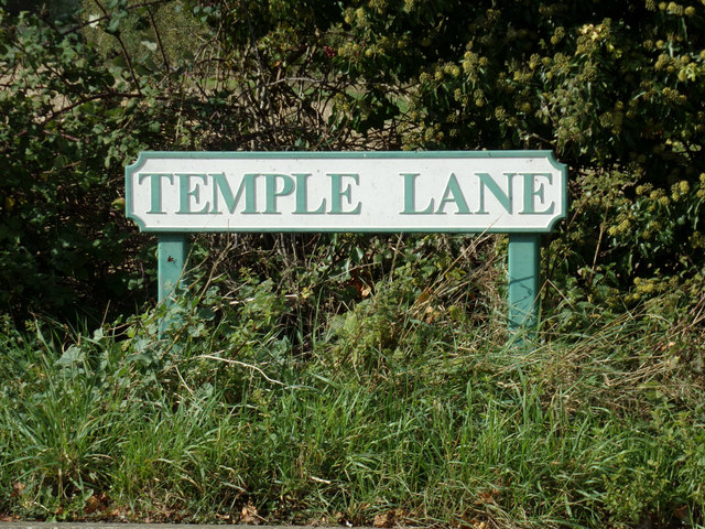 Temple Lane sign
