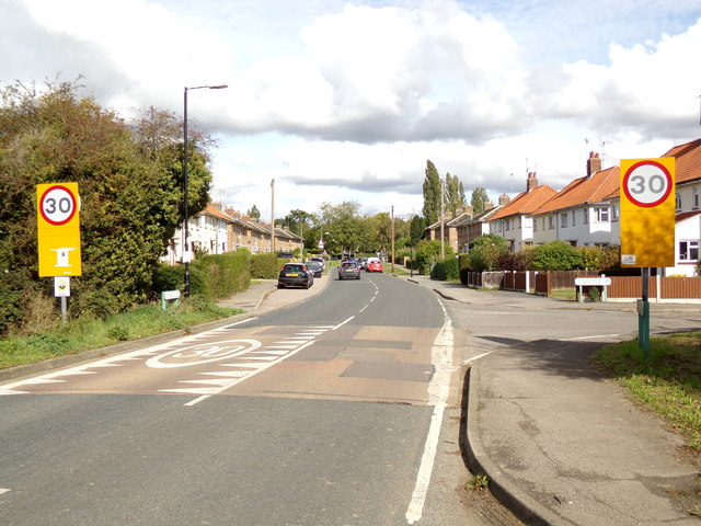 Entering Silver End on Temple Lane